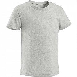 DOMYOS Detské tričko 100 sivé